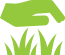 lawn mowing icon in green color